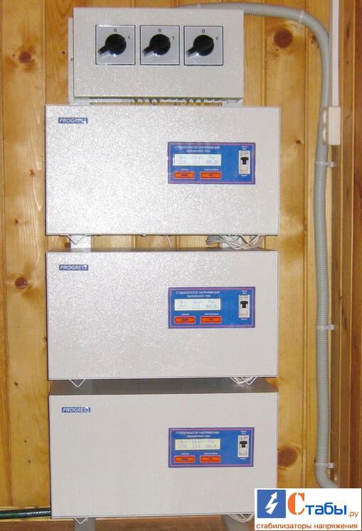Трехфазный стабилизатор 15 кВт