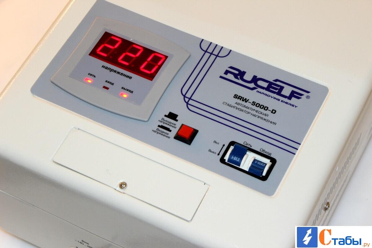 Дисплей стабилизатора RUCELF SRW-5000